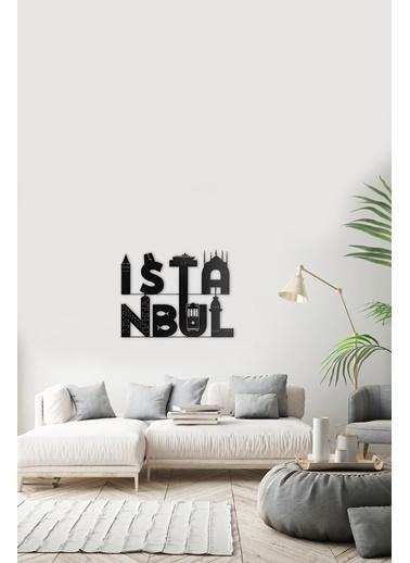 Angemiel Home İstanbul Metal Duvar Tablosu Siyah